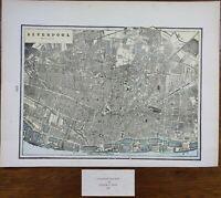 "Vintage 1900 LIVERPOOL Map 14""x11"" ~ Old Antique Original THE BEATLES"