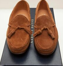 NEW Ralph Lauren Carney Snuff Italy Brown Suede Leather Loafer Dress Shoes 12