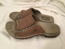 MERRELL Lilyfern Aluminum Womens 6/37/Leather Sporty Slip On Slide Sandals