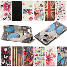 New Retro owl butterfly Leather slot wallet flip pouch stand case skin cover Z32