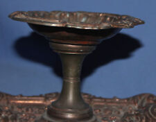 ANTIQUE VICTORIAN ORNATE METAL PEDESTAL BOWL
