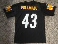 Jersey Steelers Pittsburgh Nfl Football Blk Reebok Polamalu Troy Youth Boys  Sz M ceb25008e