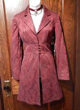 BISOU BISOU Red Black Brocade Tapestry Coat Jacket steampunk Victorian Gothic 4A
