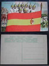 CARTOLINA PRIMA GUERRA MONDIALE WWI - FLAG -BANDIERE SPAGNA - ESPAGNE - SPAIN