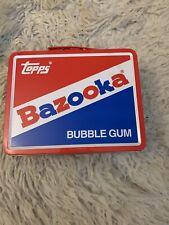 Collectible Topps Bazooka Bubble Gum Metal Lunch Box/Tin