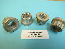 5/8�-18 Flexloc 12-Point Locking Nuts Surplus Aircraft Race Hardware (4 ea)