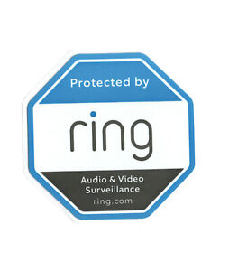 Protected by Ring OEM Sticker Decal Doorbell Security Surveillance System