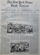 America Learn To Play Dulles Homer Yale Frost 1940 April 14 Ny Times Book Review