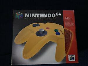 NINTENDO 64 YELLOW CONTROLLER  ORIGINAL BOX  (Box only)