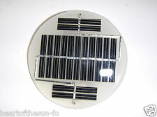 mini solar panel  7.6v  x  50 ma   epoxy encapsulated virtually indestructible