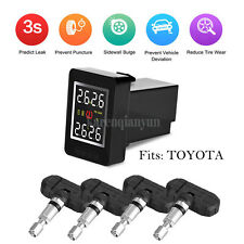 Wireless PSI/BAR TPMS Tire Tyre Pressure Monitor System+4 Sensors LCD For TOYOTA