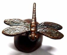 BUTTERFLY PAPER WEIGHT HANDMADE BRASS ANTIQUE STYLE DRAGONFLY TABLE DECOR GIFT