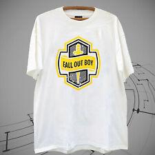 New Fall Out Boy Knife world tour Logo Men's White T shirt tee Gildan