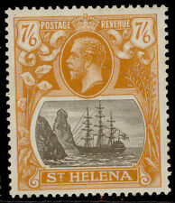 More details for st. helena gv sg111, 7s 6d grey-brown & yellow-orange, m mint. cat £150.