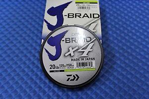 Daiwa J-Braid X4U 20-135Y Fluorescent Yellow 20lb 150yd 4000-2005
