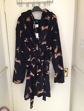 BNWT Next Navy Bunny Robe Large Size hooded gift cosy winter lounger nightwear