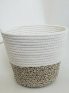 Set of 3 Cotton Rope Storage Baskets with Handle