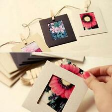 Hot!10Pcs Paper Photo Flim DIY Wall Picture Hang Album Stand Kraft Frame Clips