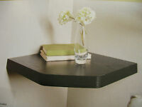 New  Floating Corner Shelf White Effect, Oak Effect Black Wood Effect