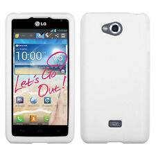 For MetroPCS LG Spirit 4G Rubber SILICONE Soft Gel Skin Case Phone Cover White