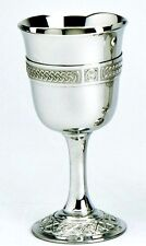 """Pewter 6"""" Celtic Chalice Goblet"""