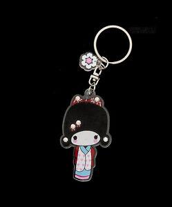 Schlüsselanhänger Sammlung Puppe Japanischer Kokeshi Mit Strass E2 8357