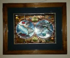 A New And Accvrat Map Of The World 1626.World Map Framed Wood Ebay