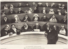 Honore Daumier Reproductions: The Legislative Belly: Fine Art Print