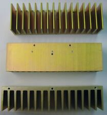 "3 Aluminum Heatsinks 2"" H x 1.63"" W x 6.75""  Gold Chromate Plated 65S98-14"