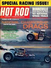 HOT ROD NOV 1963,BONNEVILLE,DARLINGTON SOUTHERN 500,NOVEMBER,HOTROD MAGAZINE