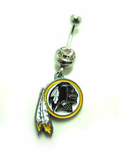 NFL Washington Redskins Navel / Belly button Ring - Authentic. 316L steel