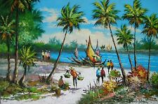 Fisherman by R. V. Calma  Art Philippines Oil Painting