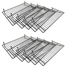 Gloss Black Flat Grid Shelf 10 Pieces 24 Inch X 12 Inch