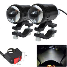 Qty2 CREE LED U1 Lens Motorcycle Headlight Driving Fog Light Spot Lamp & Switch
