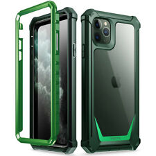 iPhone 11 Pro Max Case Poetic Shockproof Cover Clear TPU Bumper Olive Green