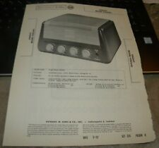 KNIGHT 4 CHANNEL 25 WATT AUDIO AMPLIFIER MODEL: 93SZ645 (SAMS PHOTOFACT 356-9)