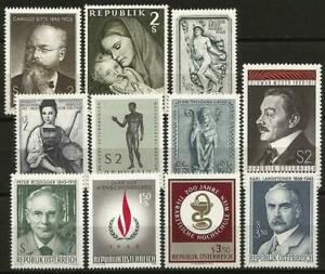 Austria 1968 MNH Collection Commemorative  Stamps
