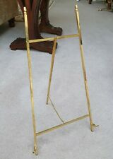 Quality Solid brass chained Picture Display Easel 45cm high Art Antiques NEW