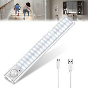 Lampe Placard LED Detecteur Mouvement USB Rechargeable Eclairage Armoire Garage
