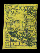 MEXICO 1868  Hidalgo  50c black, yellow  - TULA - 35  69 consg.  Sc# 49 used