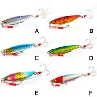 Bait Jigging Metal Lead Fishing Lure Spoon Luminous Wobbler Fish Jig 10g/15g/20g