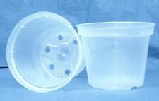 "Sima Clear Plastic Pot for Orchids 4 1/4"" Diameter - Made in Germany - Qty of 2"