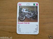 10-MOTOREN 3B DUCATI 750SS KWARTET KAART MOTORCYCLES, QUARTETT,SPIELKARTE