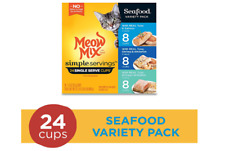 Meow Mix Simple Servings Wet Cat Food, 1.3 Ounce Cups Free Sipping