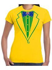 Ladies Tuxedo T Shirt Australian Flag Bow Prom Hens Fancy Dress Cricket Rugby