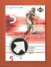 2001-02 UD FLI6HT PATTERNS JASON KIDD GAME-USED JERSEY #JK NEW JERSEY NETS
