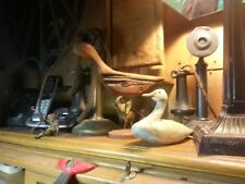 SIGNED HAND CARVED WOOD SCULPTURES, FAMOUS DECOY CARVER , CAPTAIN DON EWELL