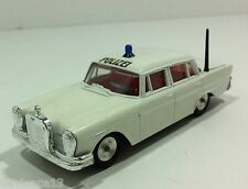 RARE 60's GAMA MINI MOD W GERMANY MERCEDES 220 SE HECKFLOSSE POLIZEI 1:47 MINT