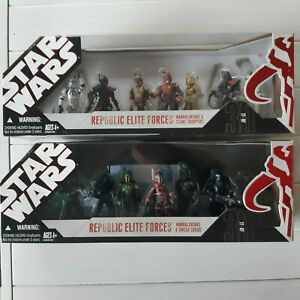 "Star Wars Republic Elite Forces ""Mandalorians"" 1 & 2 Hasbro 2007 RARE"