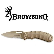 Browning Desert Tan Tactical Linerlock Folding Knife - Free Shipping!  3220066